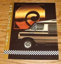 Original 1991 Dodge Ram Coach Foldout Sales Brochure 91 Polara Dart 109 SR