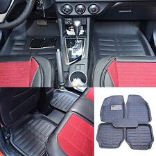 US Universal 5pc Auto Car Floor Mats FloorLiner Front & Rear Carpet All Weather