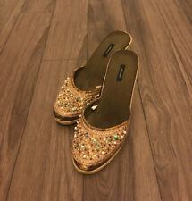Dazzling Brown Wedge Exhilaration Sandals Do NOT Look Used!