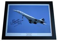 Mike Bannister Signed Autograph 16x12 framed photo display Concorde Pilot COA