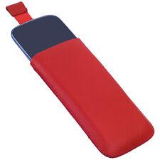 Elegant case cuero bolso f Samsung Google Nexus S i9023 i9020 estuche rojo