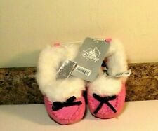 Disney Store Minnie Mouse Slippers Pink Toddler Girls Size 5/6 NWT
