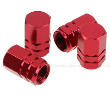 Red Aluminum Tire Wheel Rims Stem Air Valve Caps Tyre Cover Fit All Auto Car