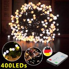 400er LED Outdoor Lichterkette Warmweiß 8 Modi IP44 Wasserdicht Außenbeleuchtung
