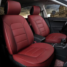 Car Parts Wine Red Car Seat Cover 5 Seats Pu Leather Seat Cover Cushions Pad