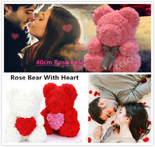 40cm  Rose Teddy Bear Flower Heart Bear Valentine Day Love Gift