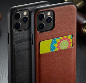 Luxury Premium PU Leather Card Holder TPU Case Cover for iPhone XR 11 11 Pro Max