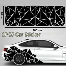 1x Car Side Geometric Triangle Graphics Sticker Accessories Universal 200x60cm