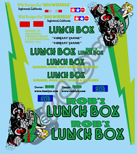 Customise Your Vintage Lunchbox Decals / Stickers choice of colour -Tamiya