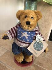 "Boyds Bears Lot/E EDDIE BEAN BAUER #9119 10"" Plush W/ Patriotic Sweater 1995 NWT"