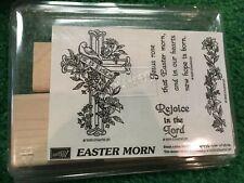 Easter Morn Stamp'in Up NEW cross lillies retired rejoice lord 1996 risen Vtg