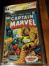 Captain Marvel 26 cgc ss 9.6 white pgs 1st Thanos cover Stan Lee 1973