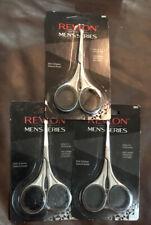 3 Revlon Mens Series Safety Tip Scissors for Nose, Brow, Beard