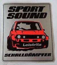 Aufkleber LEISTRITZ Schalldämpfer SPORT SOUND 80er Golf 1 Sticker Motorsport