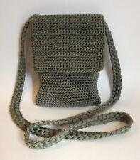 The Sak Green Crochet Knit Purse Crossbody Shoulder Bag Handmade Woven Handbag