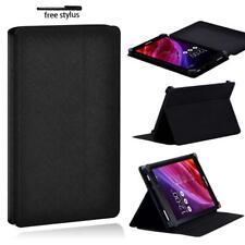 Soporte Folio De Cuero Negro Tablet Funda Para Asus MEMO Pad 7 HD 7 8 10 + Pluma