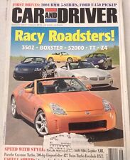 Car And Driver Magazine Boxster S2000, TT , Z4 August 2003 080317nonrh