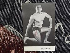 "6"" x 4"" HAND SIGNED VINTAGE BRITISH WRESTLING PHOTO CARD - ANGELO GIUSTO"