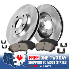 V70 Rear PSport Blank Brake Rotors+Ceramic Brake Pads Fit 1999-2006 Volvo S80