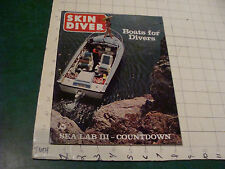 Magazine: Skin Diver april 1969 Boats For Divers, Sea Lab Iii Coutdown, 88pgs