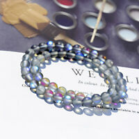 6MM Natural Moonstone Round Beads Stretch Chakra Women Beaded Bracelets Necklace