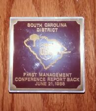 Rare Year 1 Ups South Carolina District Commemortive Paper Weight