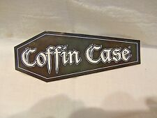 COFFIN CASE GUITAR BASS CASE STICKER DECAL WHITE ON BLACK COFFIN STYLE STICKER