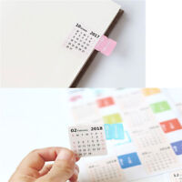 New 2Sheets 2018 Monthly Calendar Index Tab Stickers/Lable Marker Page DividerDD