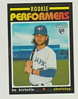 2020 Topps Heritage High Number ROOKIE PERFORMERS #RP-2 BO BICHETTE RC Blue Jays