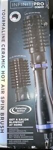 CONAIR INFINITIPRO Tourmaline Ceramic Hot Air Spin Brush Hair Dryer BC191N NEW