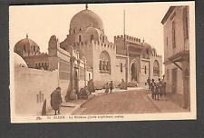 unmailed post card Alger-La Medersa ecole superieure Arabe/street people walking