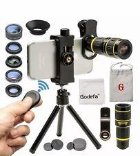 Godefa Cell Phone Camera Lens W Tripod+ Shutter Remote 6 In 1 18X T Kit