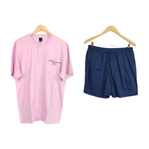 Julipet Size L Set Pajamas Man Shorts 100% Cotton Finish Silk Talc