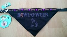 BNWT Pet Boutique HALLOWEEN DOG BANDANA & ID TAG SET Size Small - Medium £6 NEW