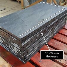 Natural Black Slate Paving Garden Patio Slabs 5m2 80x40cm - Sample service
