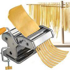 NEW Pasta Maker Roller Machine Fresh Spaghetti Noodle Fettuccine Stainless Steel