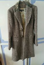 Absolutely Stunning Roberto Cavalli Virgin Wool Coat, size IT40 or UK8 - VGC