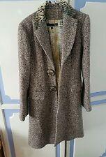 Absolutely Stunning Roberto Cavalli Virgin Wool Coat, size IT40 or UK8 - VGC