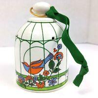 Vintage Takahashi San Francisco CA Birdhouse Pomander Ceramic Ornament Japan