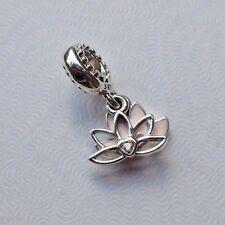 Authentic Pandora Charm Serene Lotus Dangle 797259CZ Asian Canadian Exclusive
