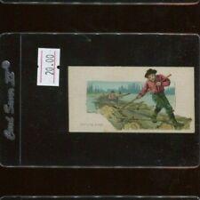 N86 Duke Tobacco Scenes of Perilous Occupations - Rafting Logs
