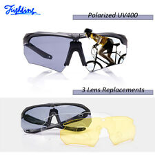 3 Lens Set Shooting Safety Glasses Clear Eye Protection Polarized Eyewear