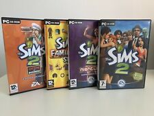 The Sims 2 PC Game Bundle +2 Expansion Nightlife Family Fun Open For Business