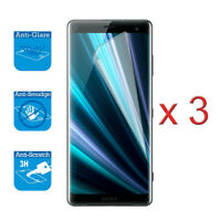 "For Sony Xperia XZ3 6.0""- Screen Protector Cover Guard LCD Film Foil & Cloth x 3"