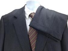 Ermenegildo Zegna Men s Gray Striped Suit Sz 44L 2 Button Working Cuffs  T13 c859609af3e
