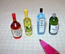 Miniature Liquor for the DOLLHOUSE Bar, (SET #6) Miniatures 1/12 Scale