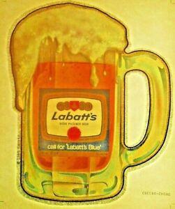 LABATTS BEER T-SHIRT IRON-ON VINTAGE USA TRANSFER PILSNER LABATT'S MUG 80s FOAM