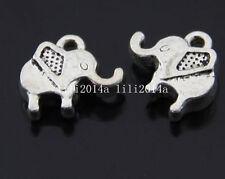 15pc Tibetan Silver elephant Animal Pendant Charms Beads Jewellery Craft GP152