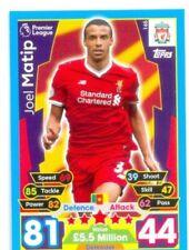 Liverpool Soccer Trading Cards 2017-2018 Season