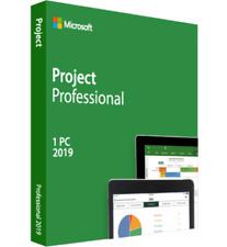 Microsoft Project Professional 2019 Retail 1 PC Key / Install (Genuine)